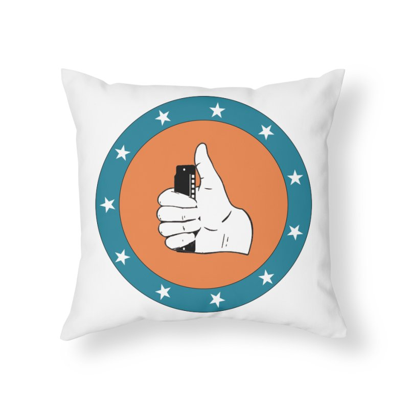 Thumb Up in Throw Pillow by Harmonica's Shop