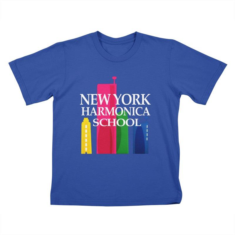 New York Harmonica School Kids T-Shirt by Harmonica's Shop