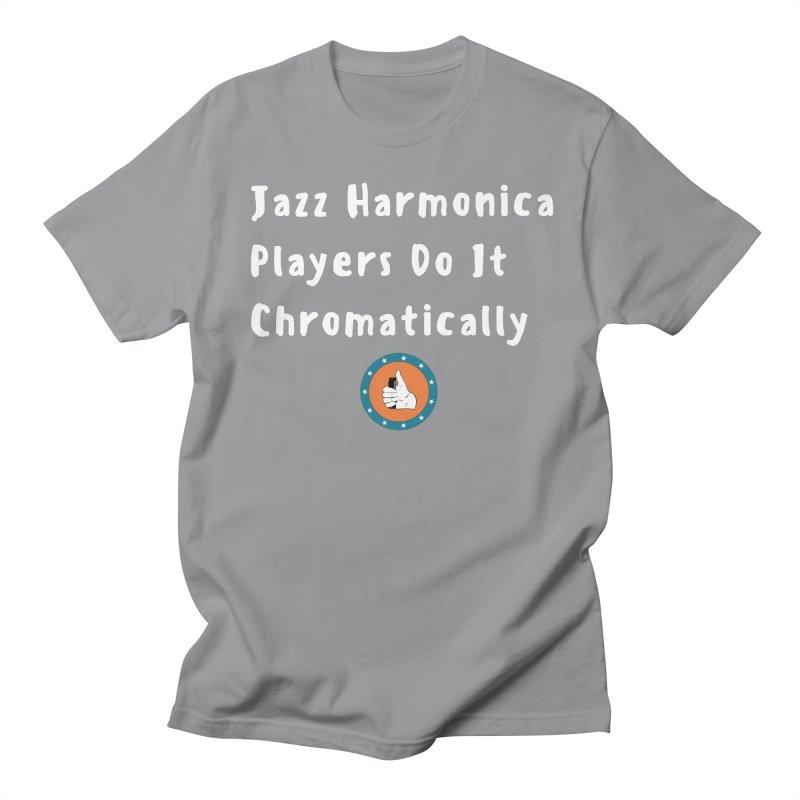 Jazz Harmonica Players Do It Chromatically Men's Regular T-Shirt by Harmonica's Shop