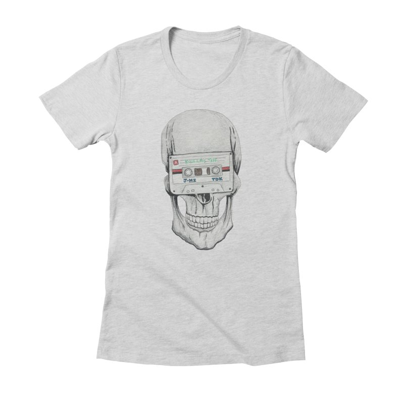 Killer Mix Tape Women's Fitted T-Shirt by harvestmoon's Artist Shop
