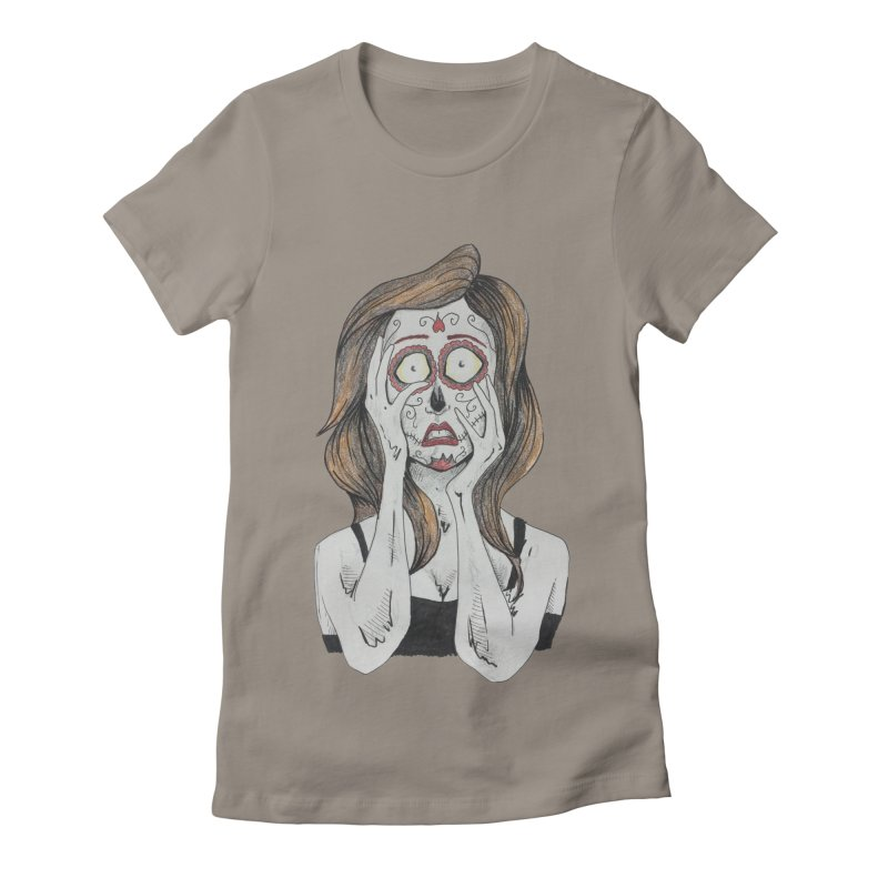 It Ain't Makup Women's Fitted T-Shirt by harvestmoon's Artist Shop