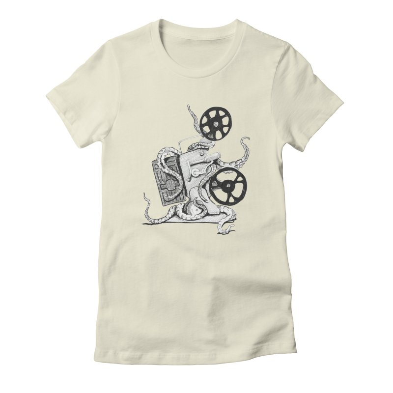 Science Fiction Women's Fitted T-Shirt by harvestmoon's Artist Shop