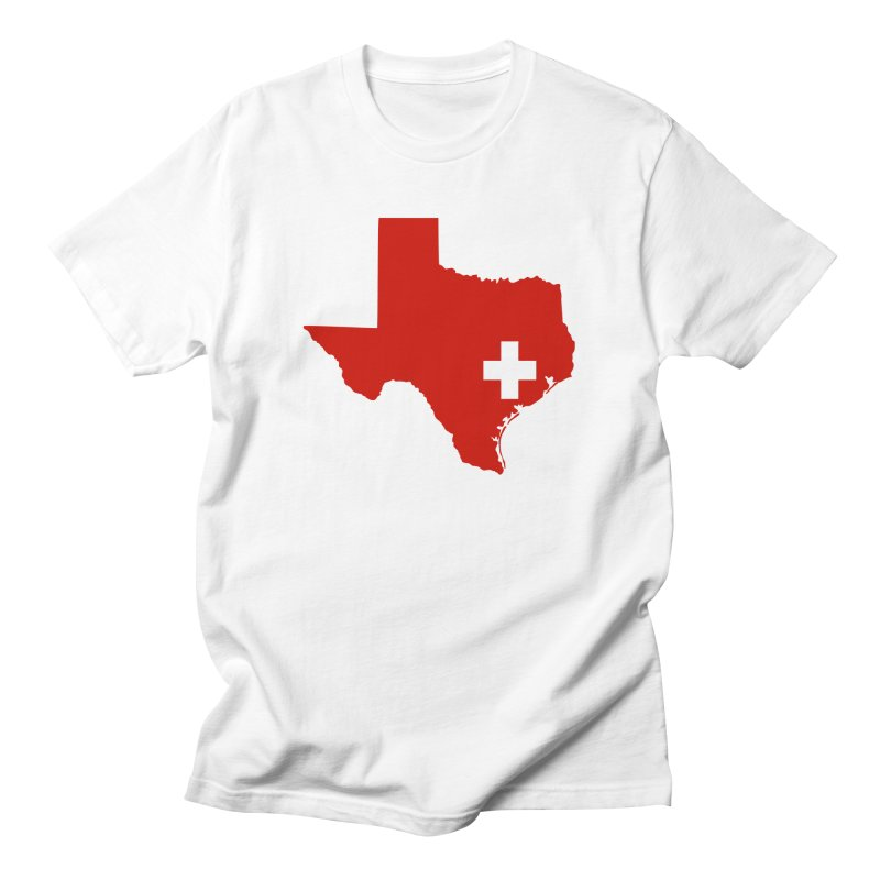 Save Texas in Men's Regular T-Shirt White by harveyrelieftee's Artist Shop