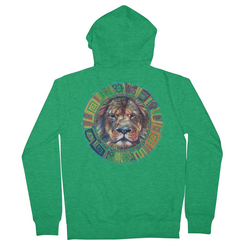 lion Mendala Women's Zip-Up Hoody by Hasan's Crib