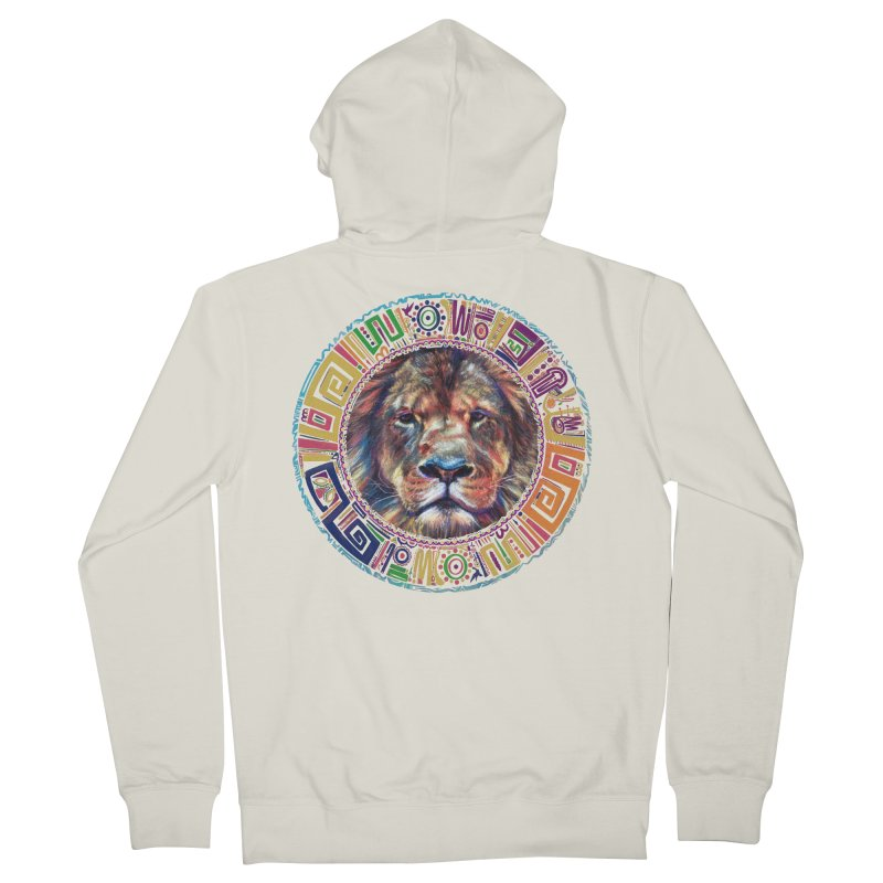 lion Mendala Women's Zip-Up Hoody by Hasan's Crib