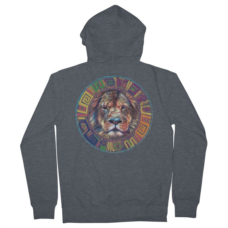 lion Mendala Men's Zip-Up Hoody by Hasan's Crib