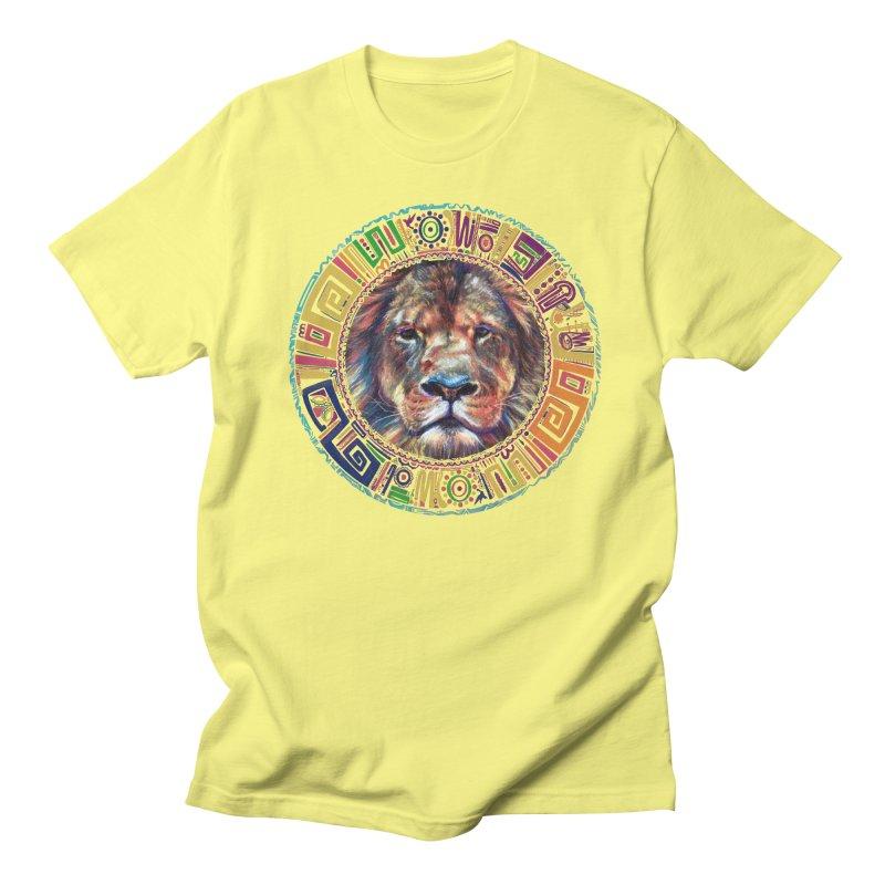 lion Mendala Men's T-Shirt by Hasan's Crib