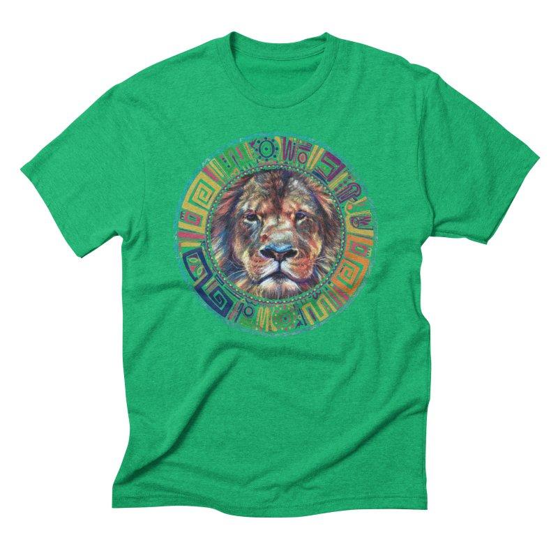 lion Mendala Men's Triblend T-Shirt by Hasan's Crib