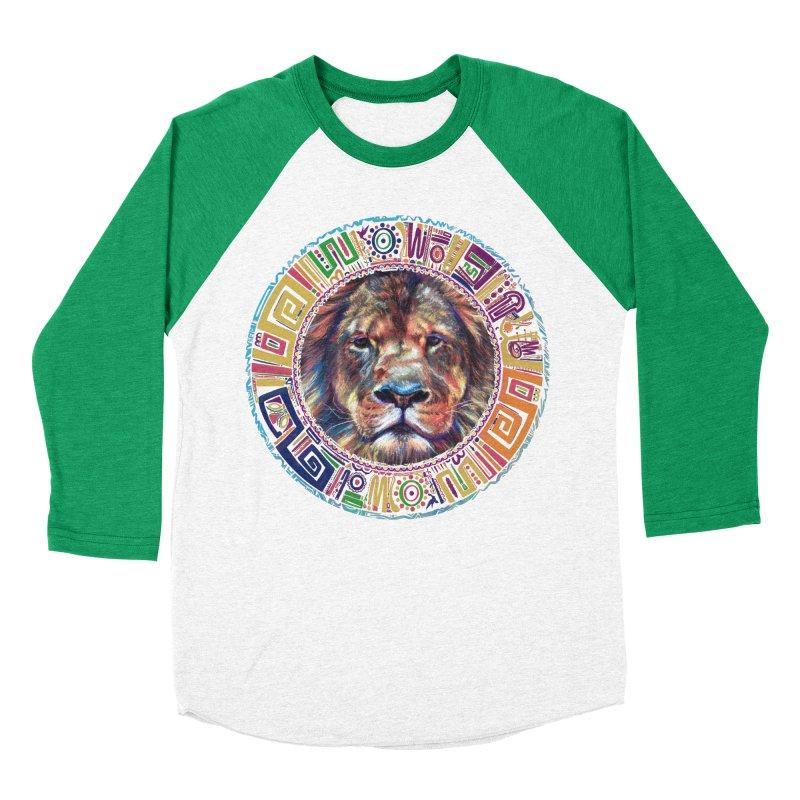 lion Mendala Men's Baseball Triblend T-Shirt by Hasan's Crib