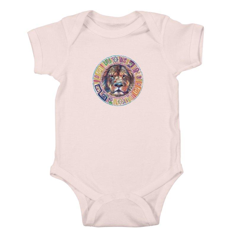 lion Mendala Kids Baby Bodysuit by Hasan's Crib