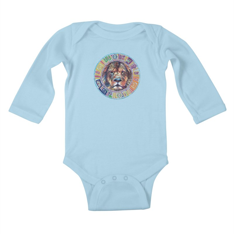 lion Mendala Kids Baby Longsleeve Bodysuit by Hasan's Crib