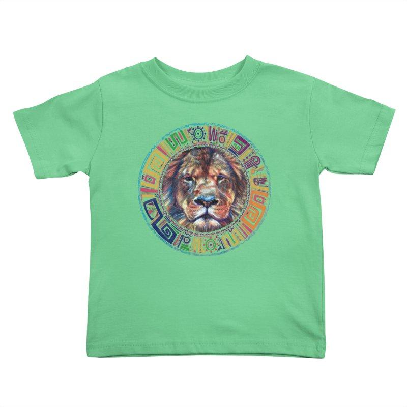 lion Mendala Kids Toddler T-Shirt by Hasan's Crib