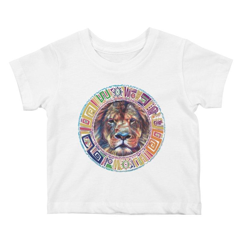 lion Mendala Kids Baby T-Shirt by Hasan's Crib