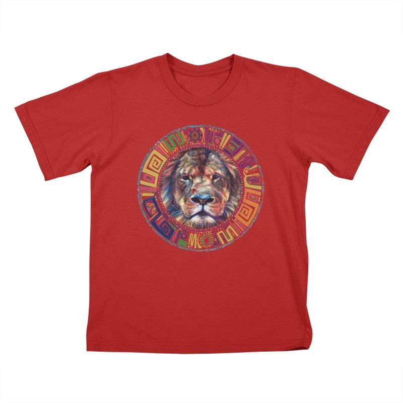 lion Mendala Kids T-shirt by Hasan's Crib