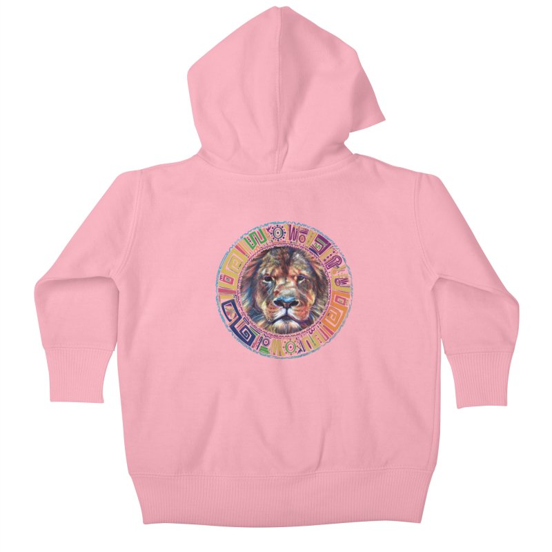 lion Mendala Kids Baby Zip-Up Hoody by Hasan's Crib