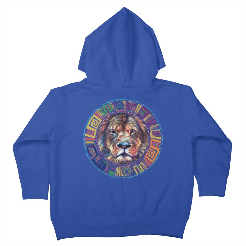 lion Mendala Kids Toddler Zip-Up Hoody by Hasan's Crib