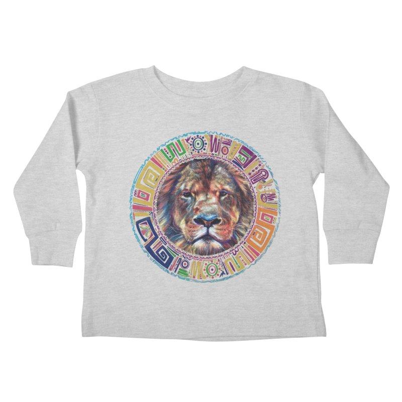 lion Mendala Kids Toddler Longsleeve T-Shirt by Hasan's Crib