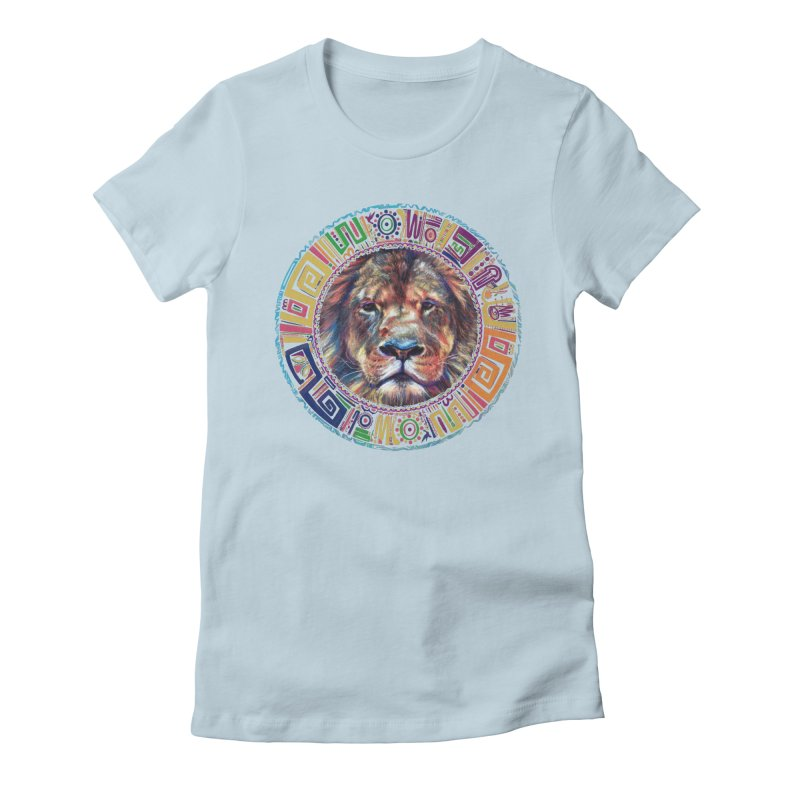 lion Mendala Women's Fitted T-Shirt by Hasan's Crib