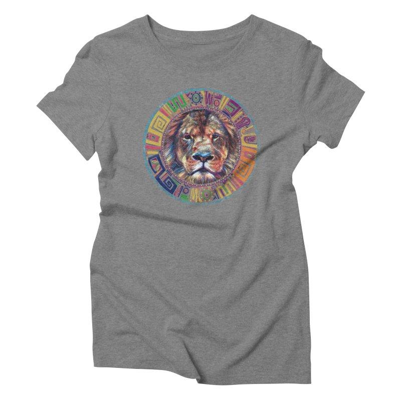 lion Mendala Women's Triblend T-Shirt by Hasan's Crib