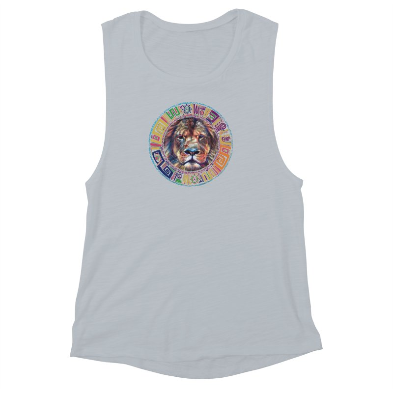 lion Mendala Women's Muscle Tank by Hasan's Crib