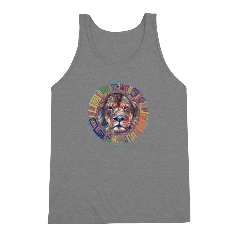 lion Mendala Men's Triblend Tank by Hasan's Crib