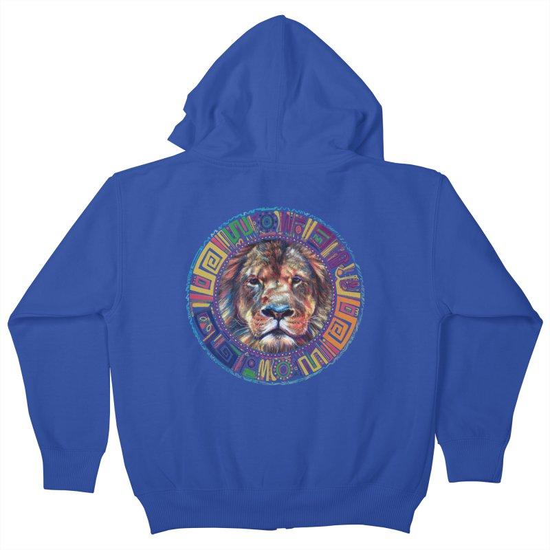 lion Mendala Kids Zip-Up Hoody by Hasan's Crib