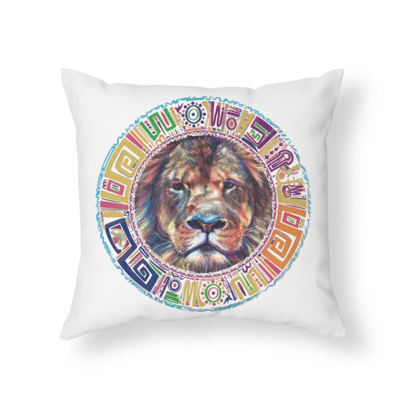 lion Mendala Home Throw Pillow by Hasan's Crib