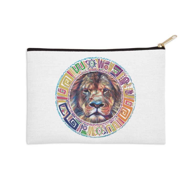 lion Mendala Accessories Zip Pouch by Hasan's Crib