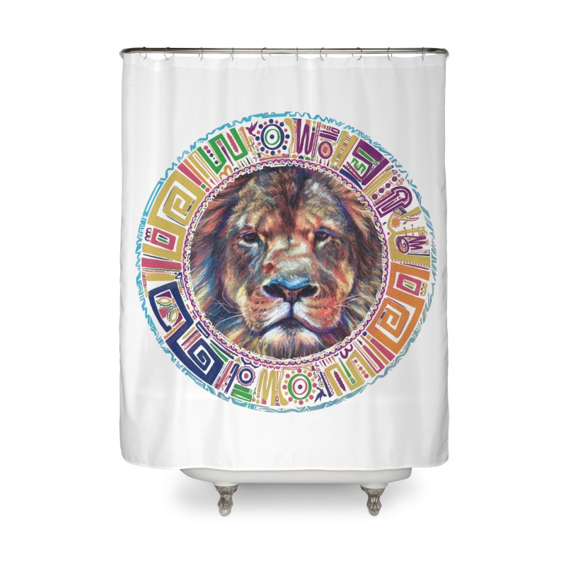 lion Mendala Home Shower Curtain by Hasan's Crib