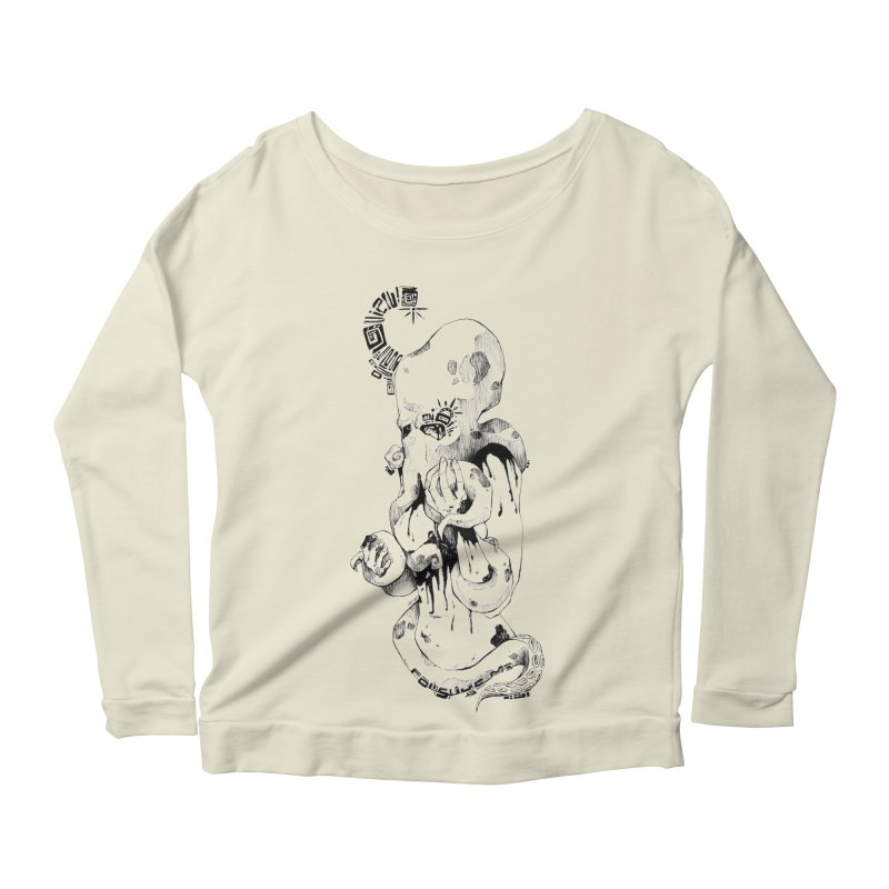 consume Me Women's Longsleeve Scoopneck  by Hasan's Crib