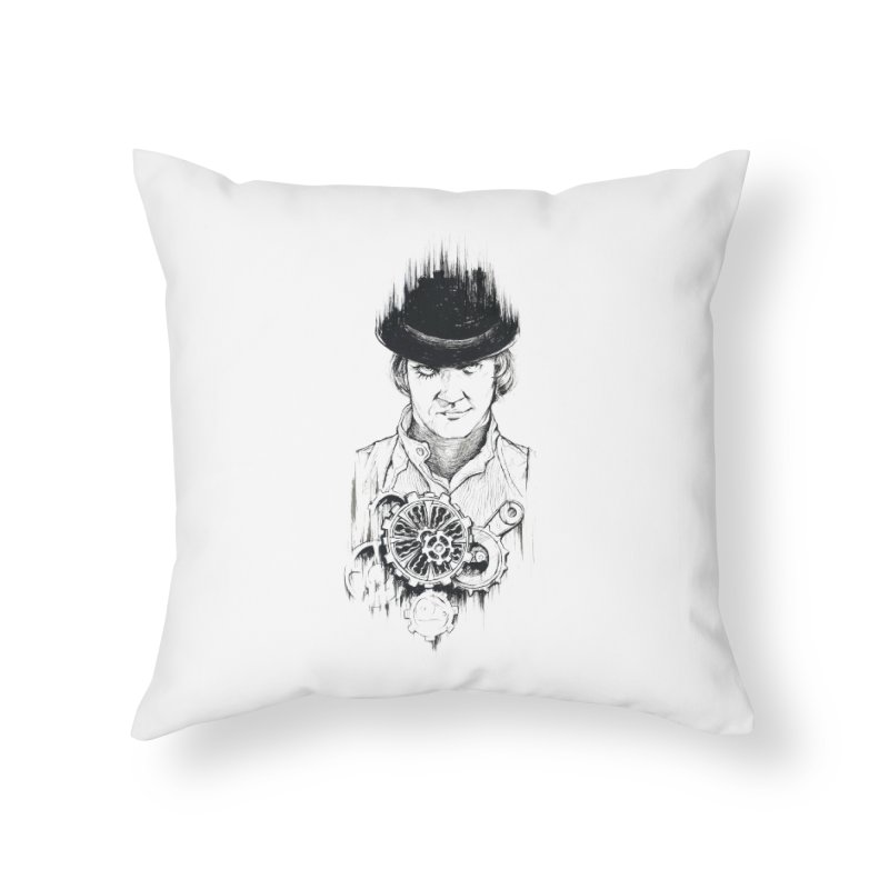 clockwork Alex Home Throw Pillow by Hasan's Crib
