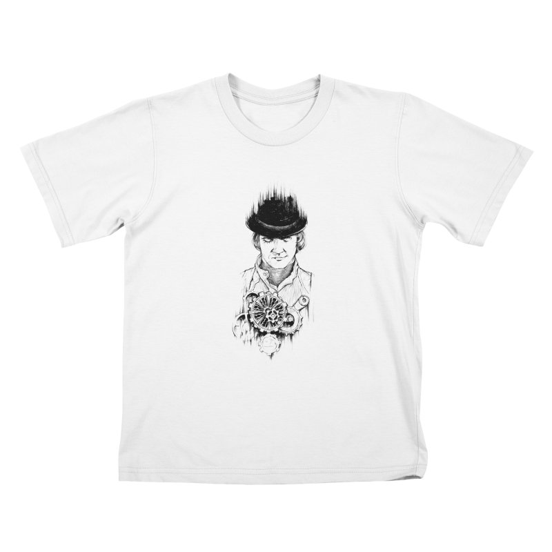 clockwork Alex Kids T-Shirt by Hasan's Crib
