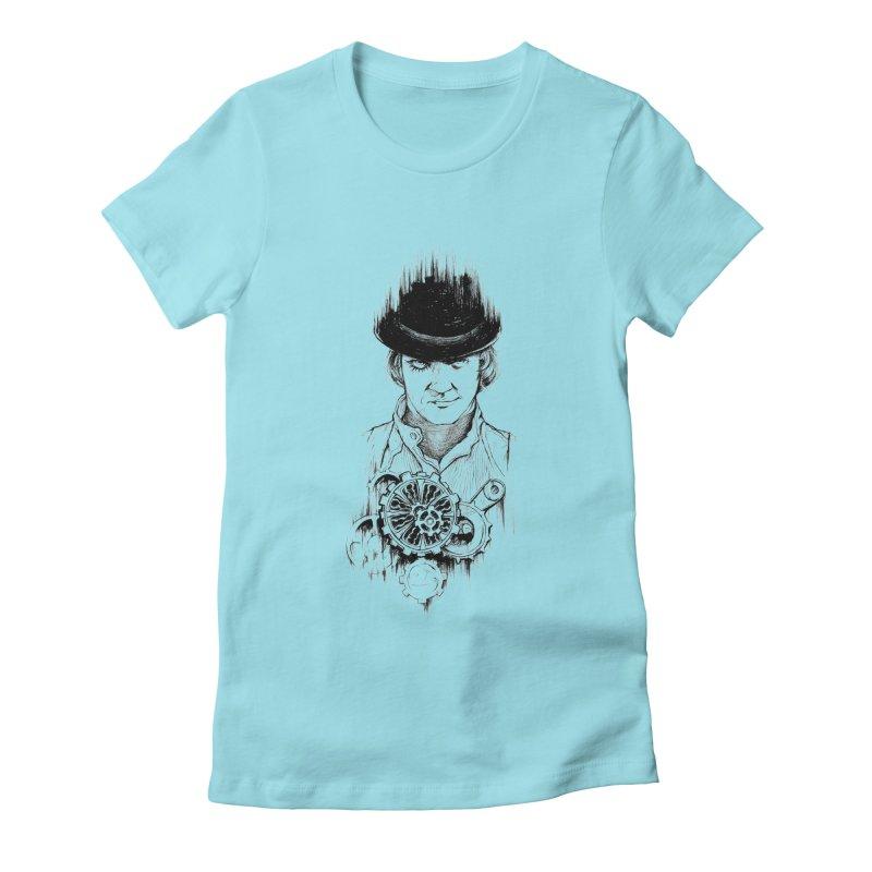 clockwork Alex Women's Fitted T-Shirt by Hasan's Crib