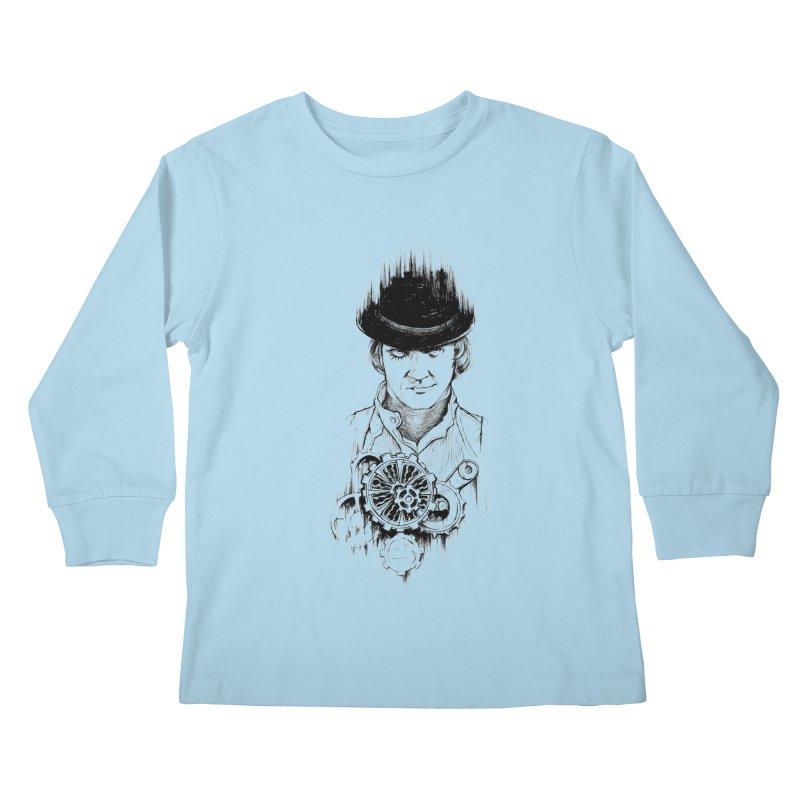 clockwork Alex Kids Longsleeve T-Shirt by Hasan's Crib
