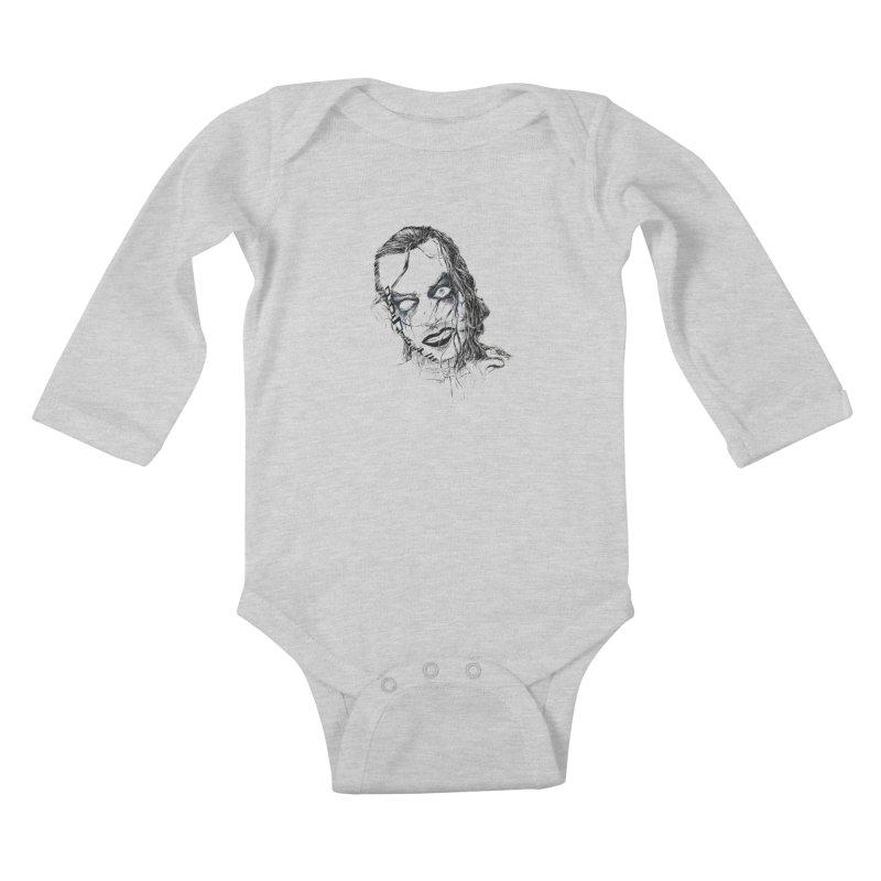 obsolete Brother Nero Kids Baby Longsleeve Bodysuit by Hasan's Crib