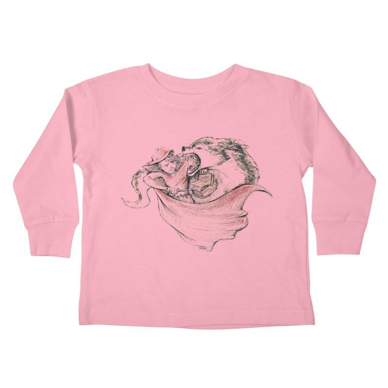 slay Thy Demons Kids Toddler Longsleeve T-Shirt by Hasan's Crib