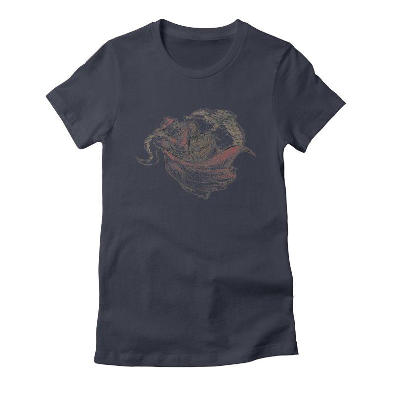 slay Thy Demons Women's Fitted T-Shirt by Hasan's Crib