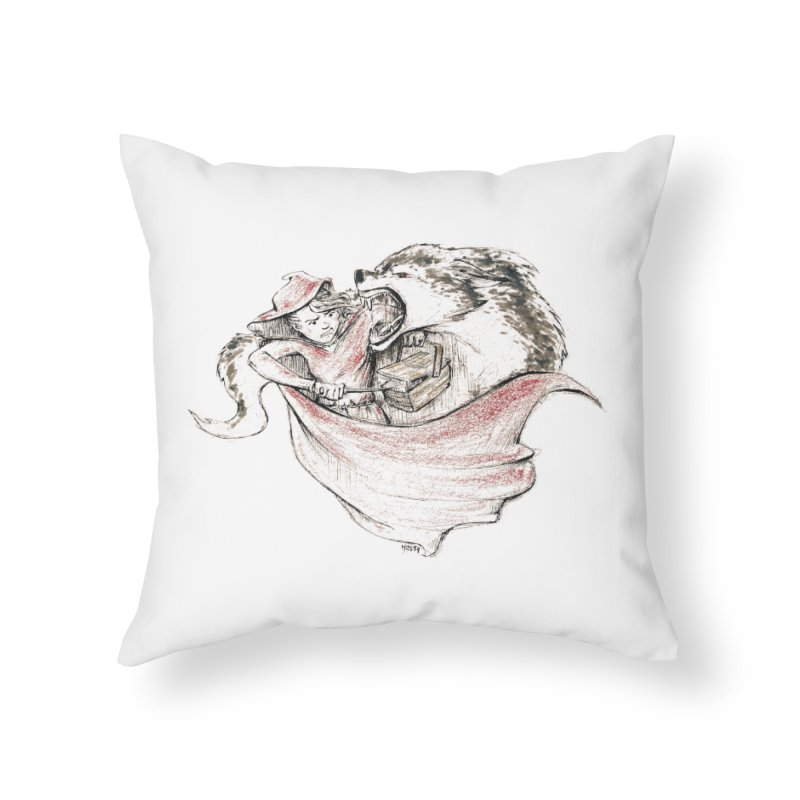 slay Thy Demons Home Throw Pillow by Hasan's Crib