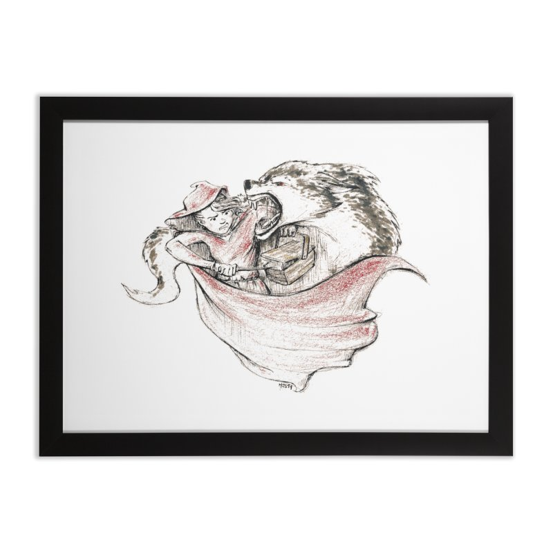 slay Thy Demons Home Framed Fine Art Print by Hasan's Crib