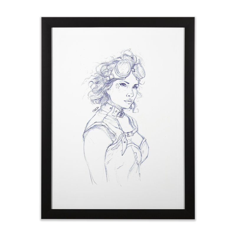 jessie Punk Home Framed Fine Art Print by Hasan's Crib