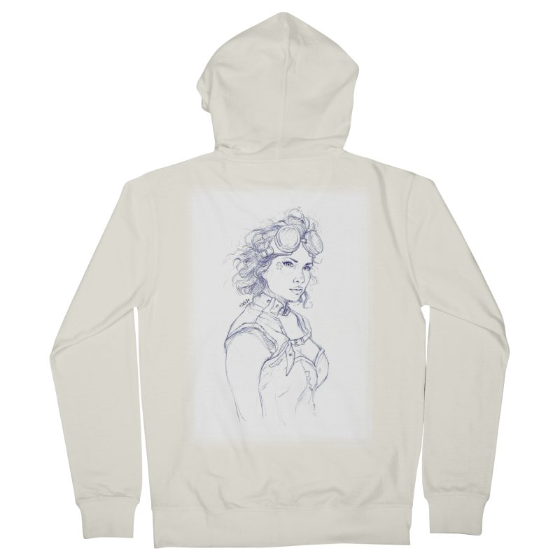 jessie Punk Women's Zip-Up Hoody by Hasan's Crib