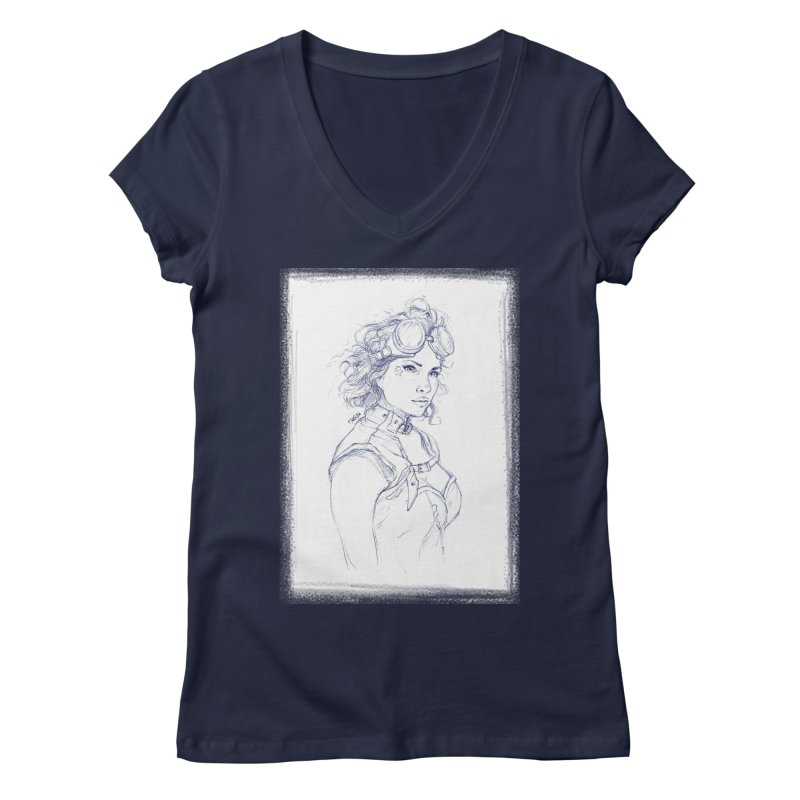 jessie Punk Women's V-Neck by Hasan's Crib