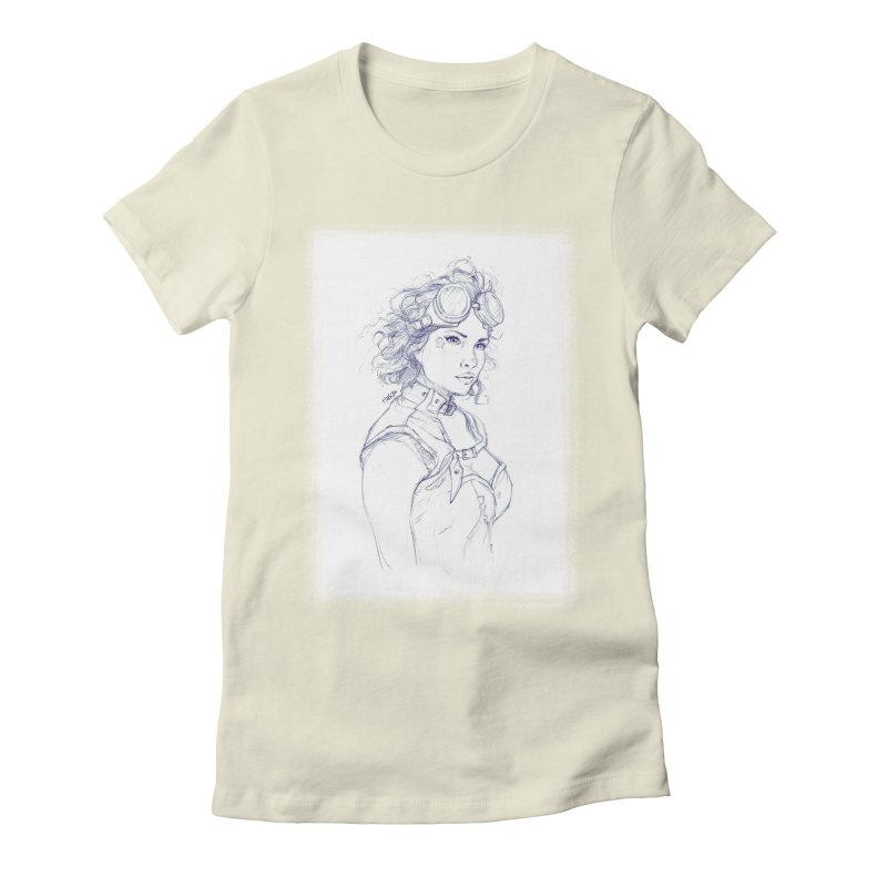 jessie Punk Women's Fitted T-Shirt by Hasan's Crib