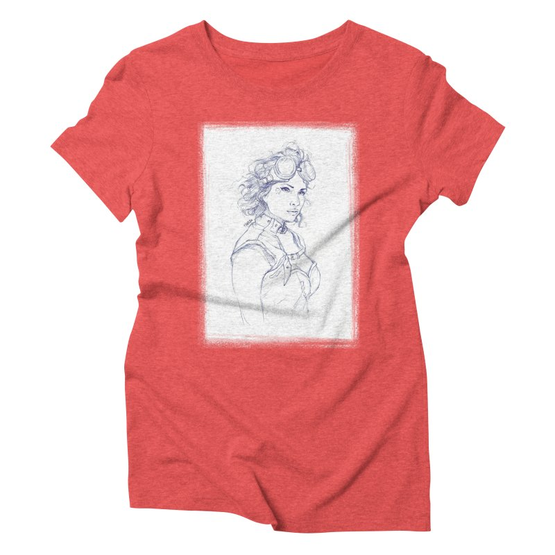jessie Punk Women's Triblend T-Shirt by Hasan's Crib