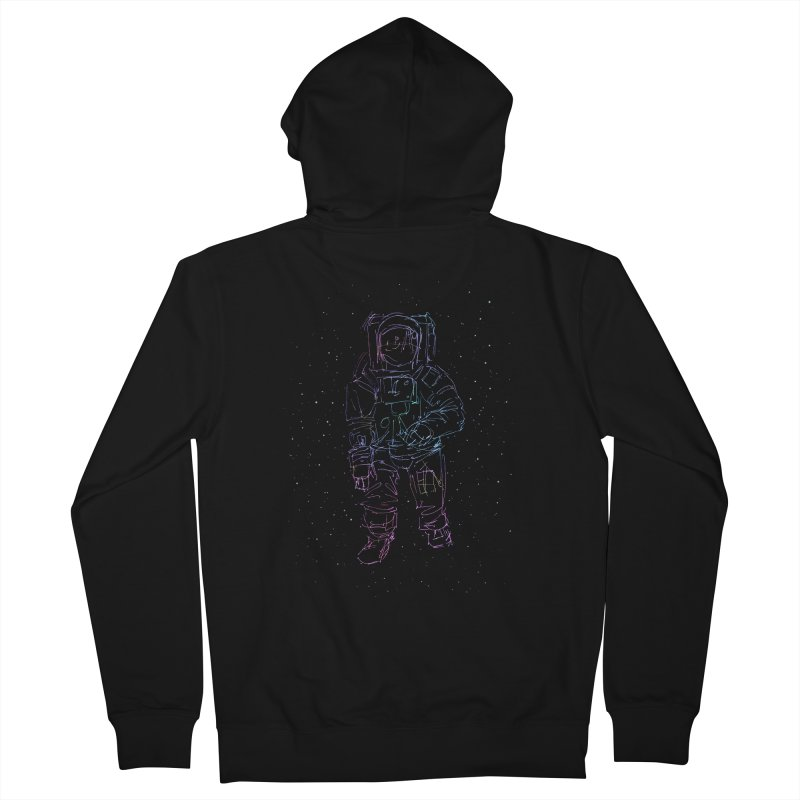 Spaceman Men's Zip-Up Hoody by Hasan's Crib