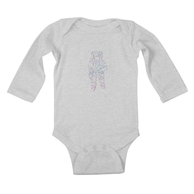 Spaceman Kids Baby Longsleeve Bodysuit by Hasan's Crib