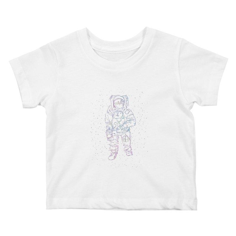 Spaceman Kids Baby T-Shirt by Hasan's Crib