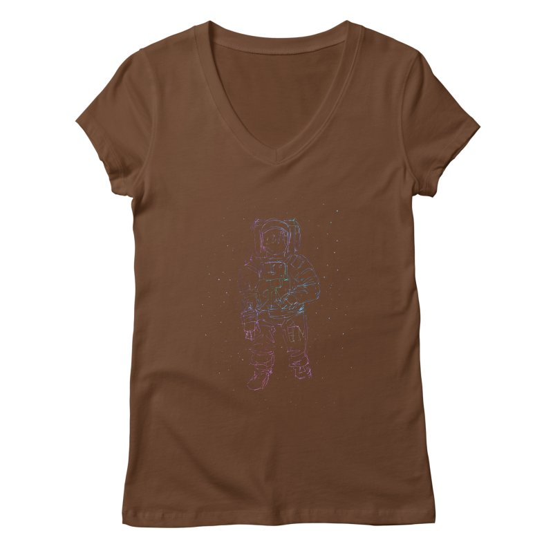 Spaceman Women's V-Neck by Hasan's Crib