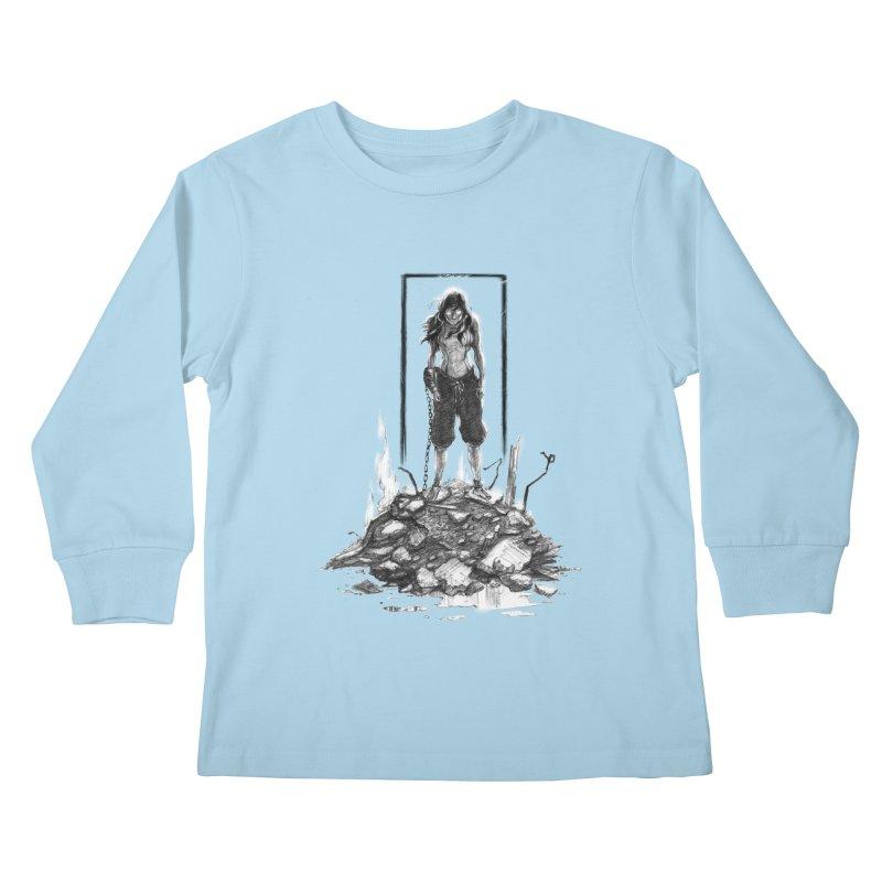 evil Korra Kids Longsleeve T-Shirt by Hasan's Crib