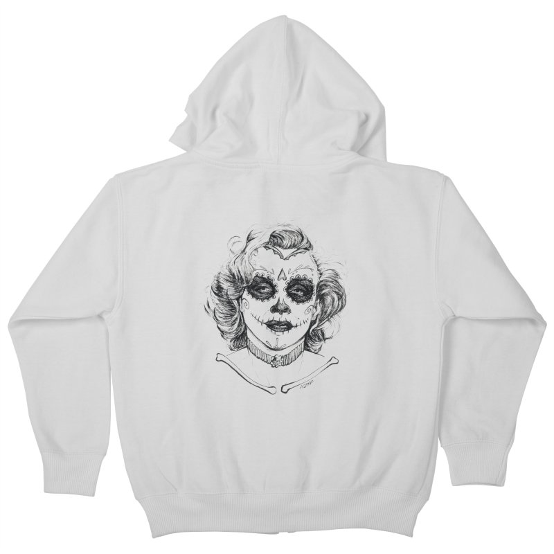 dead Monroe Kids Zip-Up Hoody by Hasan's Crib